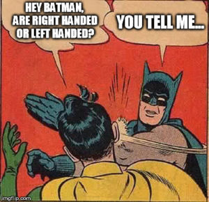 left handed batman